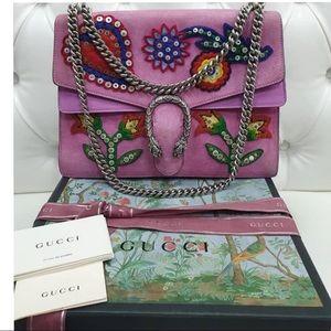 Gucci Dionysus Suede Purple Bag